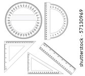 vector rulers | Shutterstock .eps vector #57130969