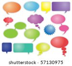colorful speech bubbles and... | Shutterstock .eps vector #57130975