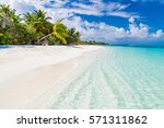 maldives perfect paradise beach ... | Shutterstock . vector #571311862