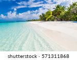 maldives beach tropical sea and ... | Shutterstock . vector #571311868