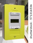 Small photo of Paris, France 27/01/2017 : A new yellow Linky electric meter is presented