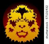 lion graphic   raster | Shutterstock . vector #57131932