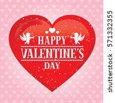 valentine's day card  banner ... | Shutterstock .eps vector #571332355