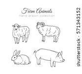 farming illustration. farm... | Shutterstock . vector #571343152