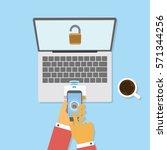 new technology to unlocked...   Shutterstock .eps vector #571344256