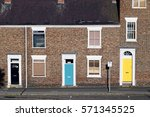set of three colourful british... | Shutterstock . vector #571345525