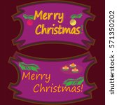 merry christmas frame with text | Shutterstock .eps vector #571350202