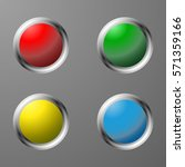 set of colored switches | Shutterstock .eps vector #571359166