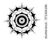 beautiful mandala    Shutterstock .eps vector #571366186