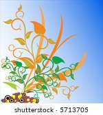 abstract floral background.... | Shutterstock .eps vector #5713705