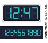 retro digital alarm clock with