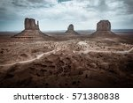 monument valley  usa. cold...   Shutterstock . vector #571380838