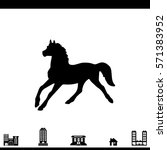 pictogram horse icon.   | Shutterstock .eps vector #571383952