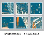 hand drawn set of creative... | Shutterstock . vector #571385815
