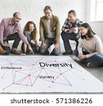 difference variety diversity... | Shutterstock . vector #571386226