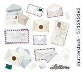 letter and envelope | Shutterstock .eps vector #571390162