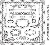 decor luxury art ornate set on... | Shutterstock . vector #571390768