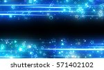 sparkling graphic particles and ... | Shutterstock . vector #571402102