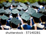 shot of graduation caps during... | Shutterstock . vector #57140281