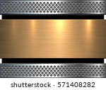 background gold metal texture ... | Shutterstock .eps vector #571408282