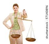 female judge holding a beam... | Shutterstock . vector #57140896
