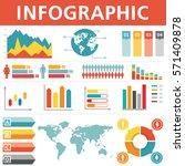 demographic infographics set | Shutterstock .eps vector #571409878
