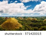 unique place. chocolate hills ... | Shutterstock . vector #571420315