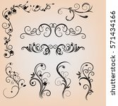 Floral Calligraphic Elements