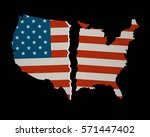 american flag map torn apart  ... | Shutterstock .eps vector #571447402