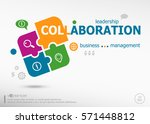 collaboration aword cloud on... | Shutterstock .eps vector #571448812