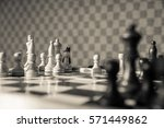 chess game wooden chess pieces... | Shutterstock . vector #571449862