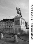 amalienborg equestrian statue | Shutterstock . vector #571451272