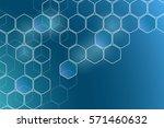chemistry 3d model  the... | Shutterstock .eps vector #571460632
