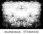 grunge black and white urban... | Shutterstock .eps vector #571464142