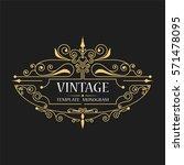 template of golden vintage...   Shutterstock .eps vector #571478095