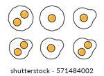 fried eggs sunny side up... | Shutterstock .eps vector #571484002