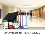 very blurry college hall as... | Shutterstock . vector #571488232