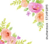 painted watercolor composition... | Shutterstock . vector #571491895