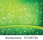bubbles green background vector