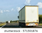 truck on the roadway  poland | Shutterstock . vector #571501876