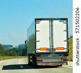 truck on the road of switzerland   Shutterstock . vector #571502206