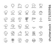 outline icons set. flat symbols ... | Shutterstock .eps vector #571505986