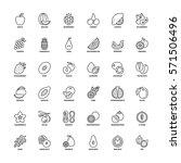 Outline Icons Set. Flat Symbol...