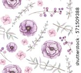 seamless pattern with... | Shutterstock . vector #571509388