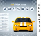 automotive infographics design... | Shutterstock .eps vector #571512916