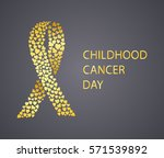 childhood cancer day awareness... | Shutterstock .eps vector #571539892
