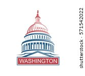united states capitol building... | Shutterstock .eps vector #571542022