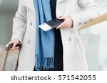 business woman going with... | Shutterstock . vector #571542055