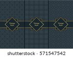 vintage pattern on black... | Shutterstock .eps vector #571547542