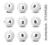 vector bingo   lottery number... | Shutterstock .eps vector #571549282